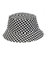 Bucket Hat For Kid's With Black And White Check