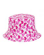 Kid's Bucket Hat With Hearts Design