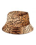 Velvet Bucket Hat Leopard Print
