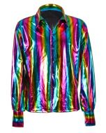 Rainbow Metallic 70's Shirt