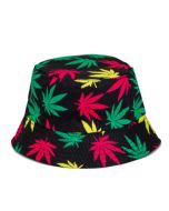 Ganja Bucket Hat Red Gold and Green