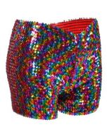 Rainbow Sequin Shorts Very Stretchy