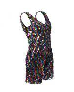 Rainbow Sequin Play Suit