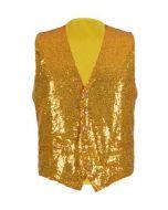 Gold Sequin Waistcoat