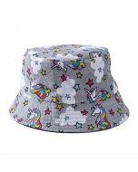 Grey Unicorn Bucket Hat