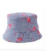 Striped Flamingo Bucket Hat