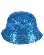 Turquoise Sequin Bucket Hat