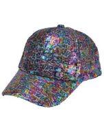 Rainbow Sequin Baseball Cap