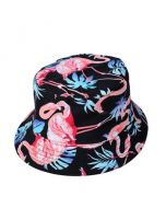 Black Flamingo Bucket Hat