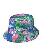 Blue Flamingo Bucket Hat