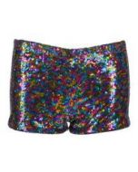 Rainbow Sequin Shorts