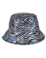 Holographic Zebra Print Bucket Hat