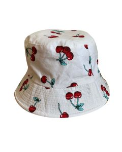 White Cherry Bucket Hat