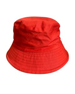 Red Fabric Bucket Hat