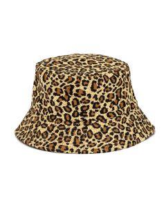 Leopard Print Canvas Bucket Hat