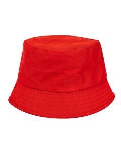 Plain Red Bucket Hat
