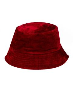 Velvet Bucket Hat Burgundy