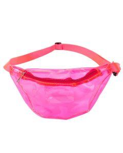 Transparent Pink PU Bum Bag