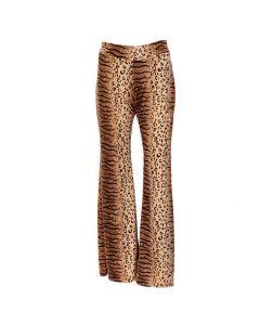 Velvet Leopard Print Flares