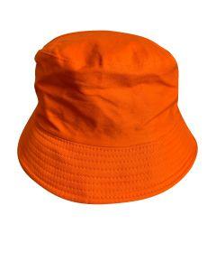 Plain Orange Bucket Hat