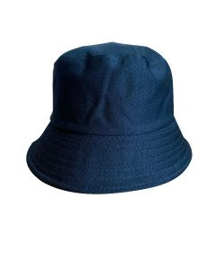 Blue Fabric Bucket Hat