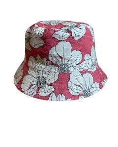 Pink Hawaiian Flower Bucket Hat