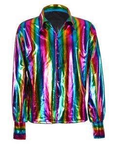 Rainbow Metallic 70's Shirt