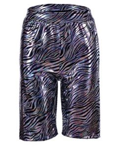 Holographic Zebra Print Cycling Shorts