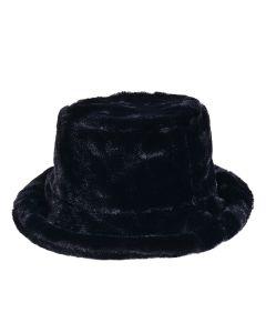 Wholesale Bucket Hat in Black Fluff