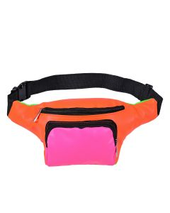 Patchwork Bum Bag In Neon Colours