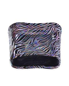 Holographic Zebra Print Boob Tube
