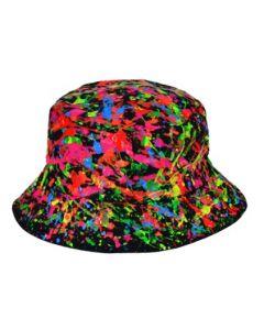 UV Hand painted Splatter Hat Black