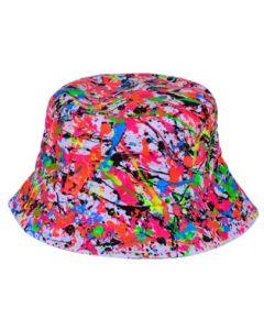 UV Hand Painted Splatter Hat White