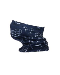Blue Paisley Snood Type Face Mask