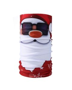 Christmas Snood Type Face Mask With Santa Wearing Sunglasses MS26