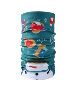 Christmas Snood Type Face Mask With Snowman MS30