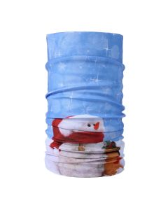 Christmas Snood Type Face Mask With Snowman MS20