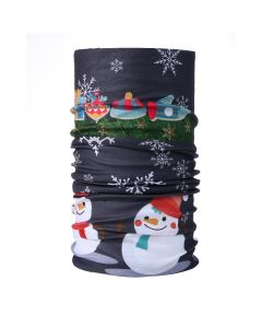 Christmas Snood Type Face Mask With Snowmen MS29