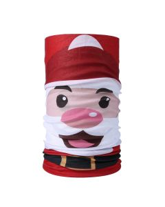 Christmas Snood Type Face Mask With Santa MS27