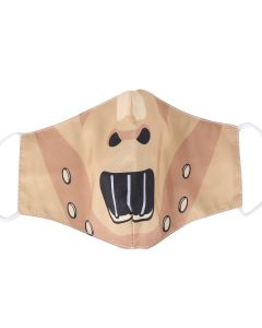 Hannibal Face Mask Cartoon Style.  3 Layer, Free Filters, Adjustable Elastic, Plush Packaging.  M26B