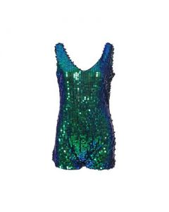 Green Sequin Playsuit