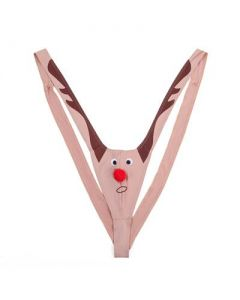 Reindeer Mankini Thong Swim Suite