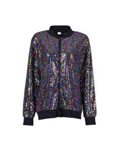 Rainbow Sequin Jacket