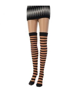 Orange and blk stripe stockings