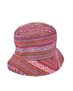 Red Canvas Hippy Hat