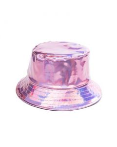 Baby Pink Holographic Bucket Hat