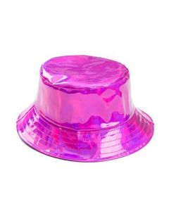Hot Pink Holographic Bucket Hat