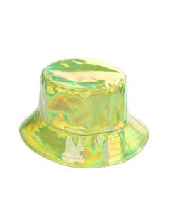 Green Holographic Bucket Hat