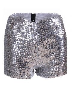 Silver Sequin Shorts Very Stretchy