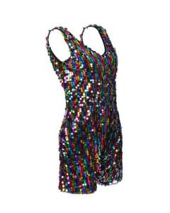 Rainbow Sequin Play Suit